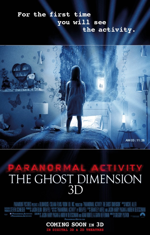 Cinéma : Paranormal Activity 5 - The Ghost Dimension